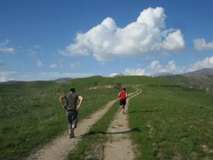 Last week's Hash run outside Dushanbe