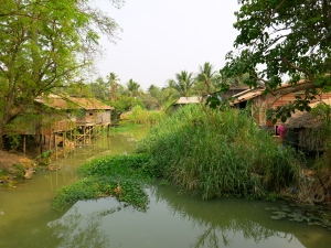 The river outside of Siem Reap