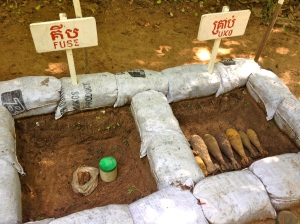 UXO storage area before detonation